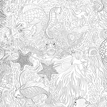 Ocean Life by TinaGraphics