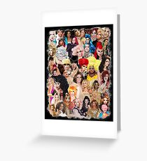 RPDR - Queens Faces Greeting Card