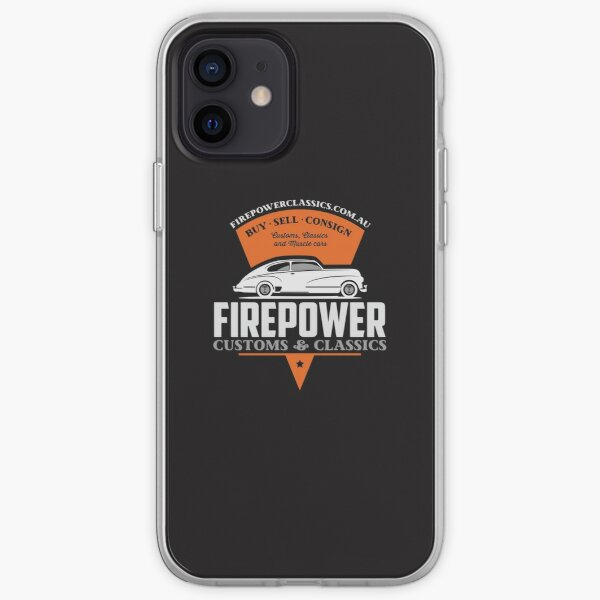 FIREPOWER CUSTOMS AND CLASSICS Sled Wedge Official Brand Name Design iPhone Soft Case