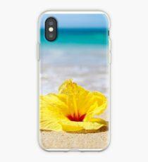 Yellow Sunshine Hibiscus iPhone Case
