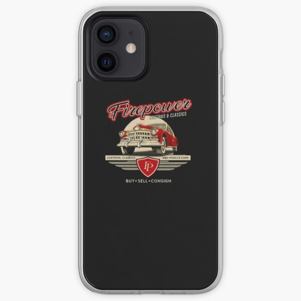 FIREPOWER CUSTOMS AND CLASSICS RETRO DESIGN iPhone Soft Case