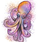 « Pieuvre violette » par PerenArt