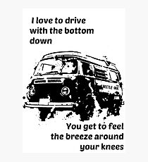 Drive with the bottom down Photographic Print