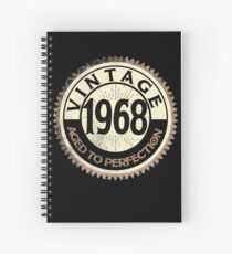 Vintage Perfection Men Women Gift 1968 50th Funny Costume Spiral Notebook