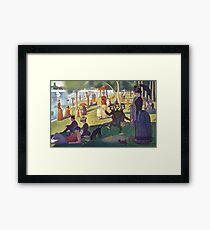 Sunday Afternoon with Three Headed Monkey making mess (Monkey Island) Framed Print