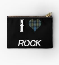 I love Rock for the Proud Scot heart Plaid Shirt Studio Pouch