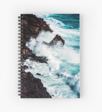 CONFRONTING THE STORM / Lanzarote, Spain Spiral Notebook