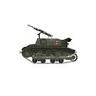 Polish WWII Era Artillery Tractor - CP (with roundel) by Escodrion