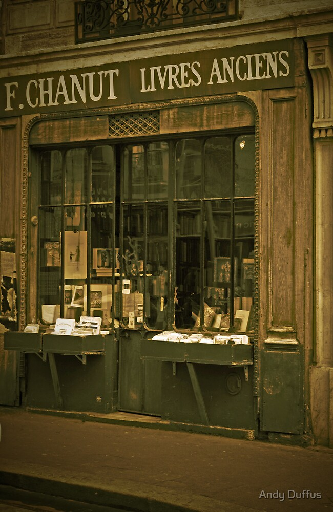 Homage to Eugene Atget - 'An Old Parisian Bookshop' by Andy Duffus