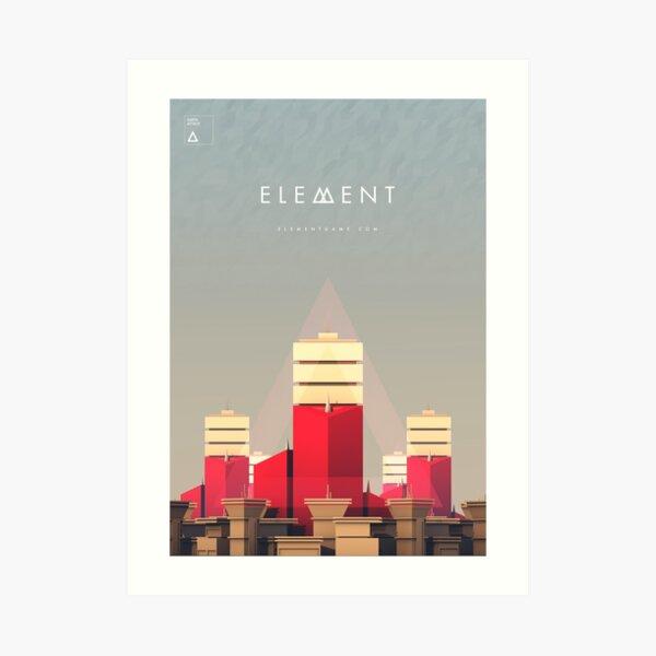 Element Earth Attack Unit Artwork Art Print