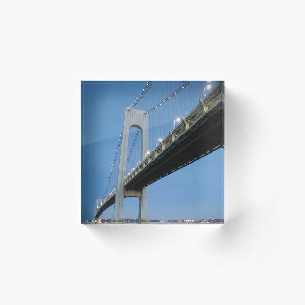 Night, bridge Acrylic Block
