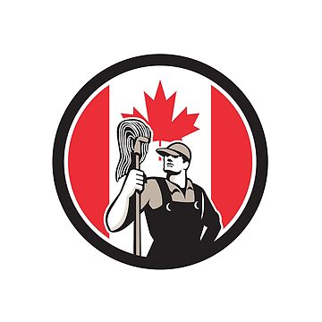 Canadian Industrial Cleaner Canada Flag Icon by patrimonio