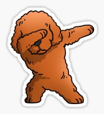 Funny Toy Poodle Dabbing Sticker