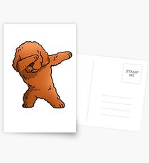 Funny Toy Poodle Dabbing Postcards