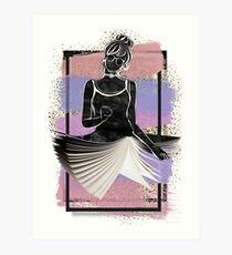 Chic Book Dress Art Print