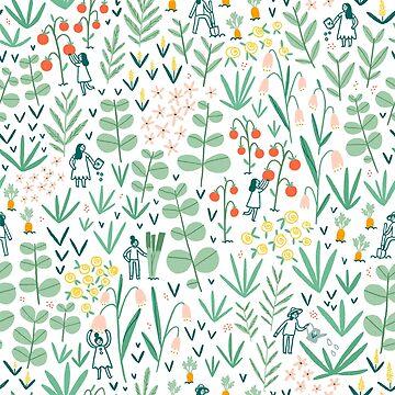 Gardening team by stolenpencil