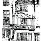 Rue Galande, Paris by EmilieGeant