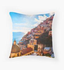 Positano, beauty of Italy Throw Pillow