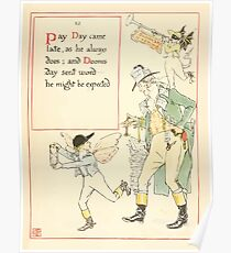 A Masque of Days - From the Last Essays of Elia 1901 illustrated by Walter Crane 19 - Pay Day, Dooms Day Poster
