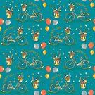 Fahrräder auf einem blauen Hintergrund von Elsbet