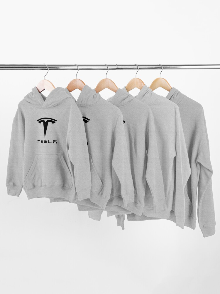 Alternate view of tesla car Kids Pullover Hoodie