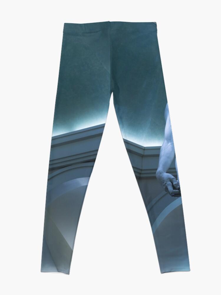 Alternate view of Nude Perfection - Michelangelos David Under A Blue Oculus Leggings