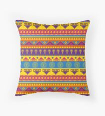 Vivid mexican pattern  Throw Pillow