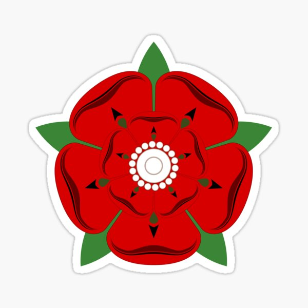 Lancashire Rose Sticker
