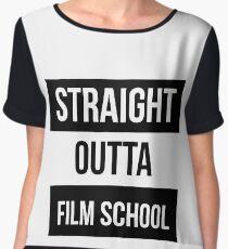 straight outta film school  Chiffon Top