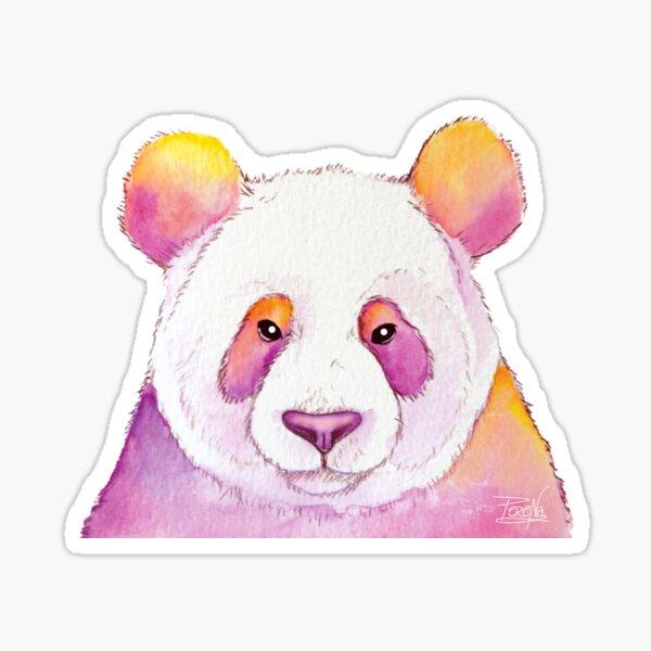 Panda coloré Sticker