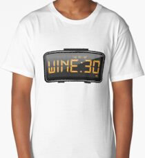 Wine Clock Funny  Long T-Shirt