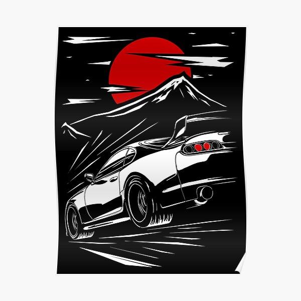 Wall Art 2JZ-GTE TOYOTA Supra  TT MK4 Tuned Poster Print Retro Poster