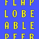 Flabe Lobe Able Peer – Yellow by alannarwhitney