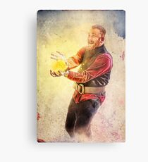 Wizard Playing with Fire Metal Print