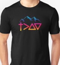 God is Greater Than The Highs and Lows | Christian Design Unisex T-Shirt