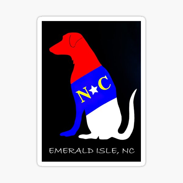 NC DOG (Emerald Isle, NC) Sticker