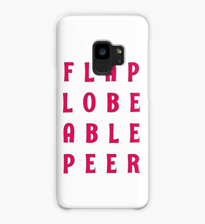 Flap Lobe Able Peer – Magenta Case/Skin for Samsung Galaxy
