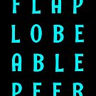 Flap Lobe Able Peer – Blue by alannarwhitney