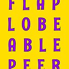 Flap Lobe Able Peer – Purple by alannarwhitney
