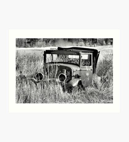 1930 Ford Model A Turon Sedan Art Print