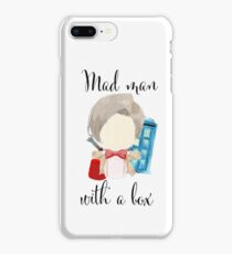 A mad man with a box · doctor who iPhone 8 Plus Case