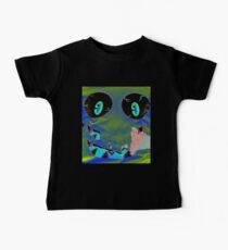 Blue Monster Face Baby Tee