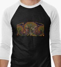 Fractal Tree Men's Baseball ¾ T-Shirt