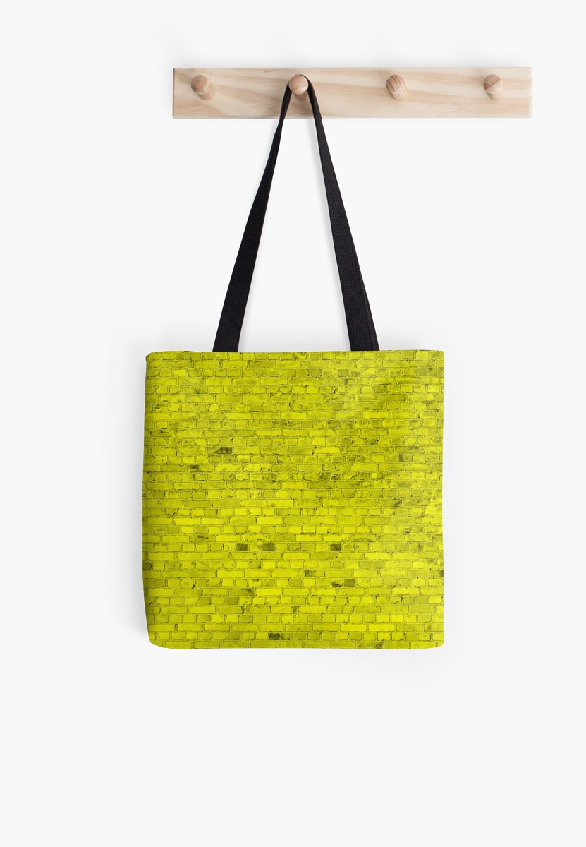 Bright Neon Yellow Brick Wall