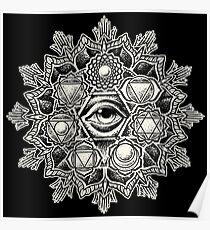Anahata Seven Chakra Flower Mandala Poster