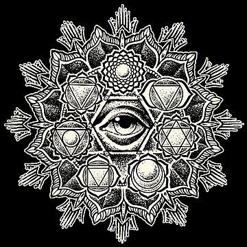 Anahata Seven Chakra Flower Mandala by RobertoJL