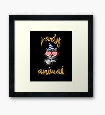Cat Party Animal - Cat Lover Gift Merch Framed Print