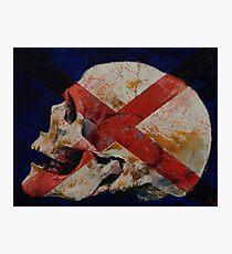 Skull with Cross Photographic Print