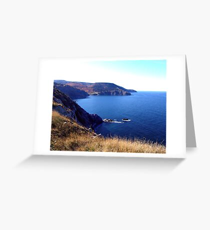 Cliffs of Meat Cove Greeting Card