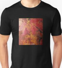 CR Art Studio, Abstract Expressionism Painting, Molten Lava Unisex T-Shirt